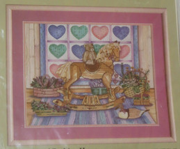 """Quilt Rocking Horse Counted Cross Stitch Kit NOS Sealed Duck Teddy Bear 18""""x14"""" - $22.11"""