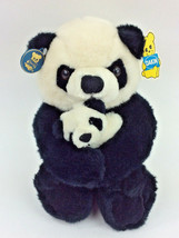 "Dakin Panda Bear Mom & Baby Plush Stuffed Animal 1986 VTG 12"" Cuddles NEW - $58.04"