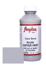 Angelus Acrylic Leather Paint-4oz.-Dark Bone - $8.53