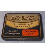 Vintage Ex-Lax Chocolated Laxative 18 Tablet 25 Cent Tin  - $7.95