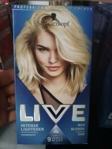 Schwarzkopf Live Hair Dye Lightener Max Blonde Up To 9 Levels Of Lift Permanent - $15.18