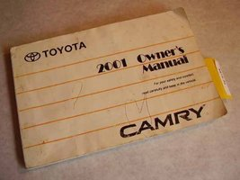2001 Toyota Camry Owners Manual [Paperback] Toyota - $13.56