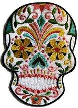 Custom and Unique Bikers Gear[Flor De Fiesta Sugar Skull] Embroidered Ir... - $24.74