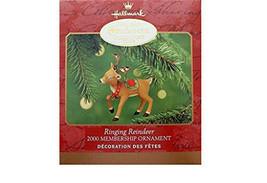 Hallmark Ornament Ringing Reindeer Membership Ornament 2000 - $9.49