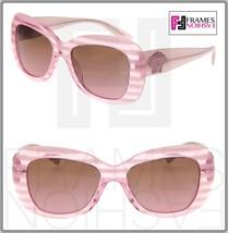 VERSACE Sunglasses VE4317 Translucent Rule Pink Striped Glitter Medusa 4317 - $191.57