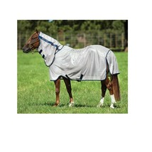 Mio Fly Sheet For Horses Polyester Protection Reflective Bronze/Navy 78 ... - $108.75