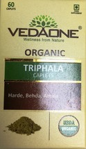 Vedaone Organic Triphala 60 Caplets Capsules - $10.00