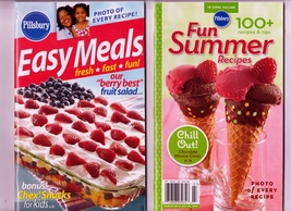 Pillsbury Fun Summer Recipes  July 2007 & Easy Meals Books July 12, 2005... - $7.00