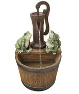 Water fountain 22IN RESIN FROGS ON PAIL FTN - $395.99