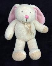 Manhattan Toy Bunny Rabbit Cream Pink Nose Ears Plush Stuffed Animal 2002 - $37.72
