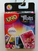 Uno Trolls World Tour Card Game Dream Works 2-10 Players Age 7+ Fun Matt... - $11.63