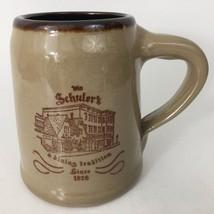 Win Schulers Distinctive Dining Beer Stein Ale Mug Brown Glaze Marshall ... - $14.51