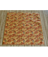 FALL ORANGE Leaves or Christmas throw PILLOW COVER - $19.50