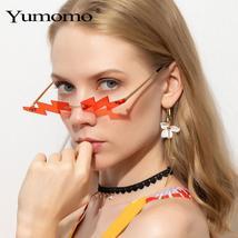 YUMOMO steampunk sunglasses ladies frameless street fashion trend sunglasses sma