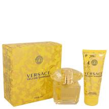 Versace Yellow Diamond Perfume 3.0 Oz Eau De Toilette Spray 2 Pcs Gift Set image 1