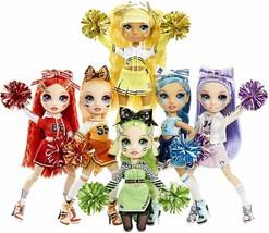 Rainbow High Cheer ALL 6 Dolls Poppy, Willow, Jade, Ruby, Sunny, Skyler NEW NIB - $145.12