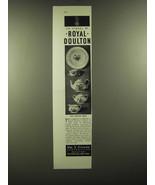 1946 Royal Doulton Chelsea Rose China Ad - The symbol of Royal Doulton - $14.99