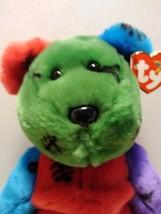 Ty Beanie buddies FRANKENTEDDY The Halloween Bear, Multi-Colored with Mi... - $24.95