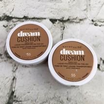 2 X Maybelline Dream Cushion Liquid Foundation # 55 Caramel - $9.89