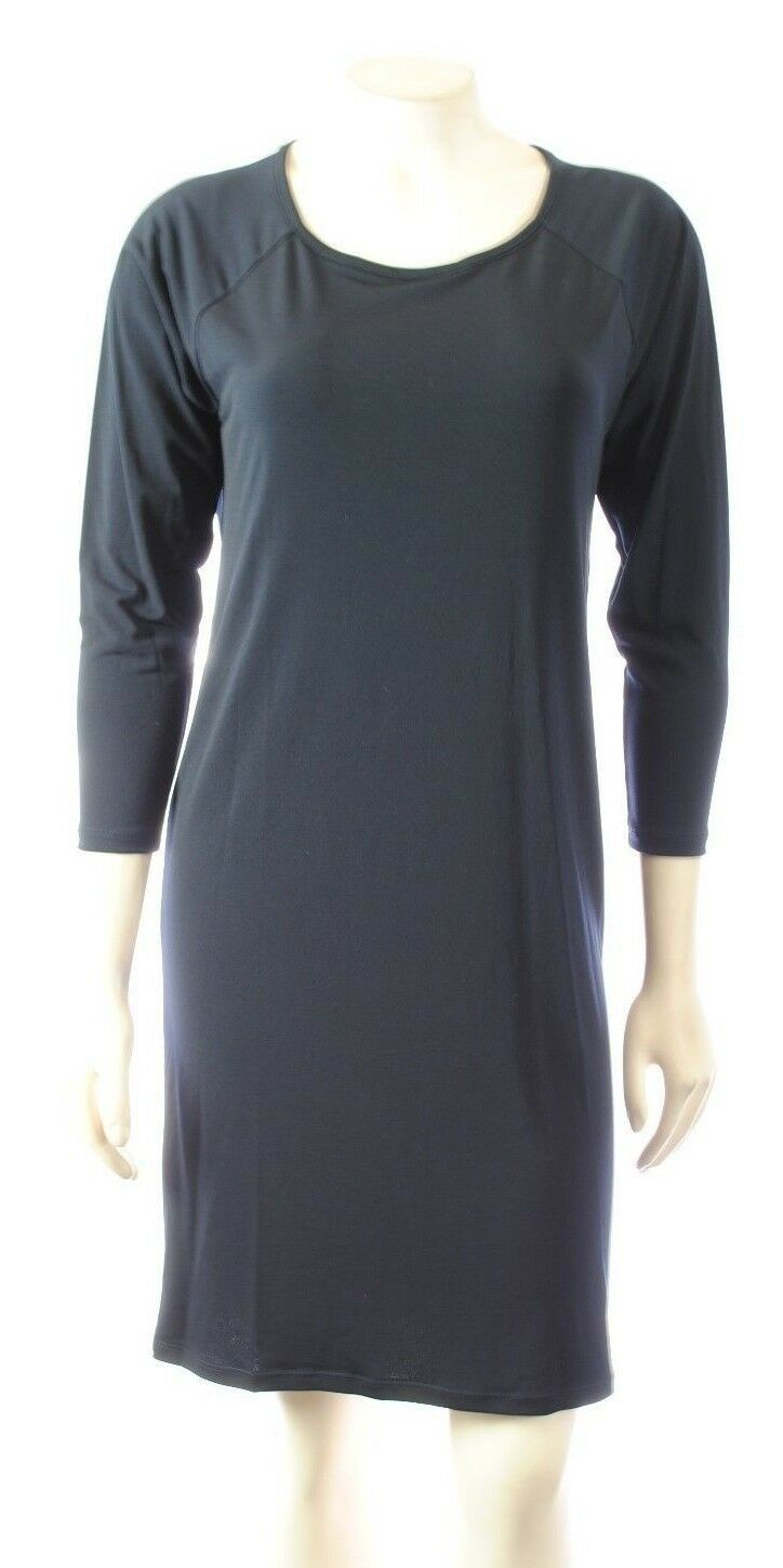Primary image for NEW MICHAEL KORS Solid Dress Fashion Black 3/4 sleeve Loose Fit SEXY cocktail XS