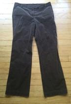 Ann Taylor Loft Women's 6 Brown Boot Cut Corduroy Pants Zip hook and bar button - $18.69