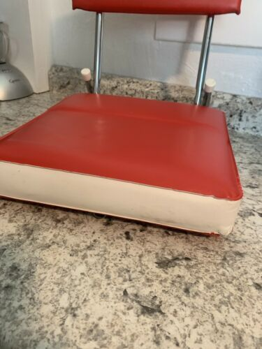 STADIUM seat Red & White vintage folding cushion sports bleacher image 2