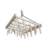 25 CLOTHES PIN LAUNDRY DRYING RACK - Amish Handmade Clothes Hanger USA - $41.13