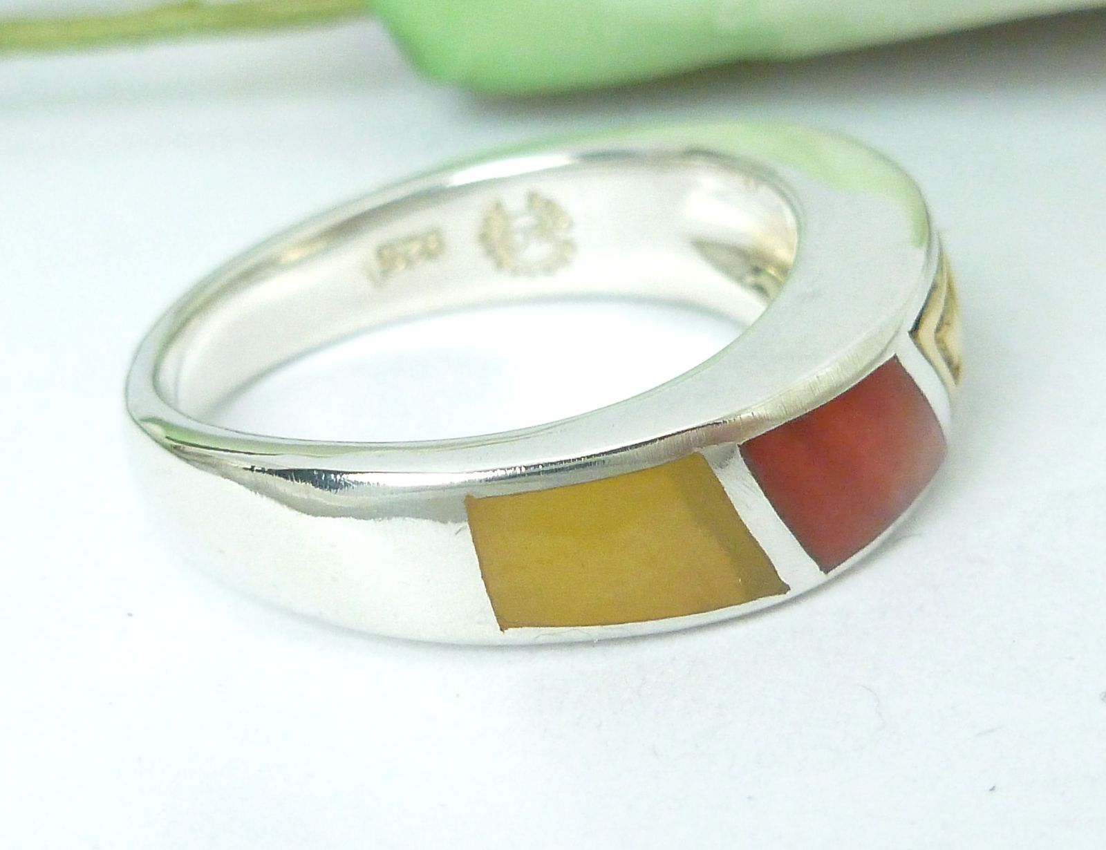 Eric Grossbardt Sterling/18K Rainbow Ring Size 5.75