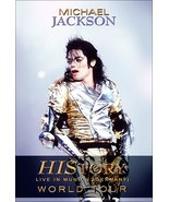 "Michael Jackson ""History World Tour"" Reproduction Counter Top Stand-Up D... - $16.99"