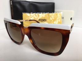 New FENDI FF 0087/S CUMJD 53mm White Tortoise Women's Sunglasses - $149.99