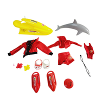 Barbie Baywatch Clothes & Accessories 13 Piece lot Dolphin Jet Ski Red S... - $33.74