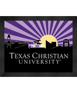 Texas Christian University 13 x 16 Uscape with Retro Skyline Framed Print  - $39.95