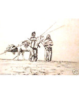 A New Season by Hooper; Handcolored Etching - $123.00