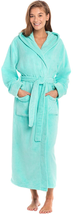 Alexander Del Rossa Women'S Plush Fleece Robe With Hood, Long Warm Bathrobe - $77.44