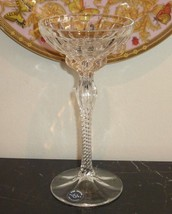"Vintage Lenox Crystal 8 1/4"" High Candlestick with Twisted Stem - $25.00"