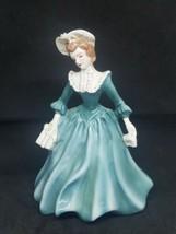 Florence Ceramics Lady Figurines Pasadena, California Julie Blue Dress - $37.39