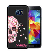 PERSONALIZED RUBBER CASE FOR SAMSUNG NOTE 8 5 4 3 PINK FLOWERS SKULL - $12.98