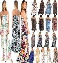Red Eye Lilac Print Sheering Long Maxi Dress Womens Fancy Party Sleeveless Dress - $12.36 - $14.73