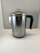 Revere Ware 6 Cup Coffee Pot Percolator Stainless Steel Copper Bottom Pr... - $46.71