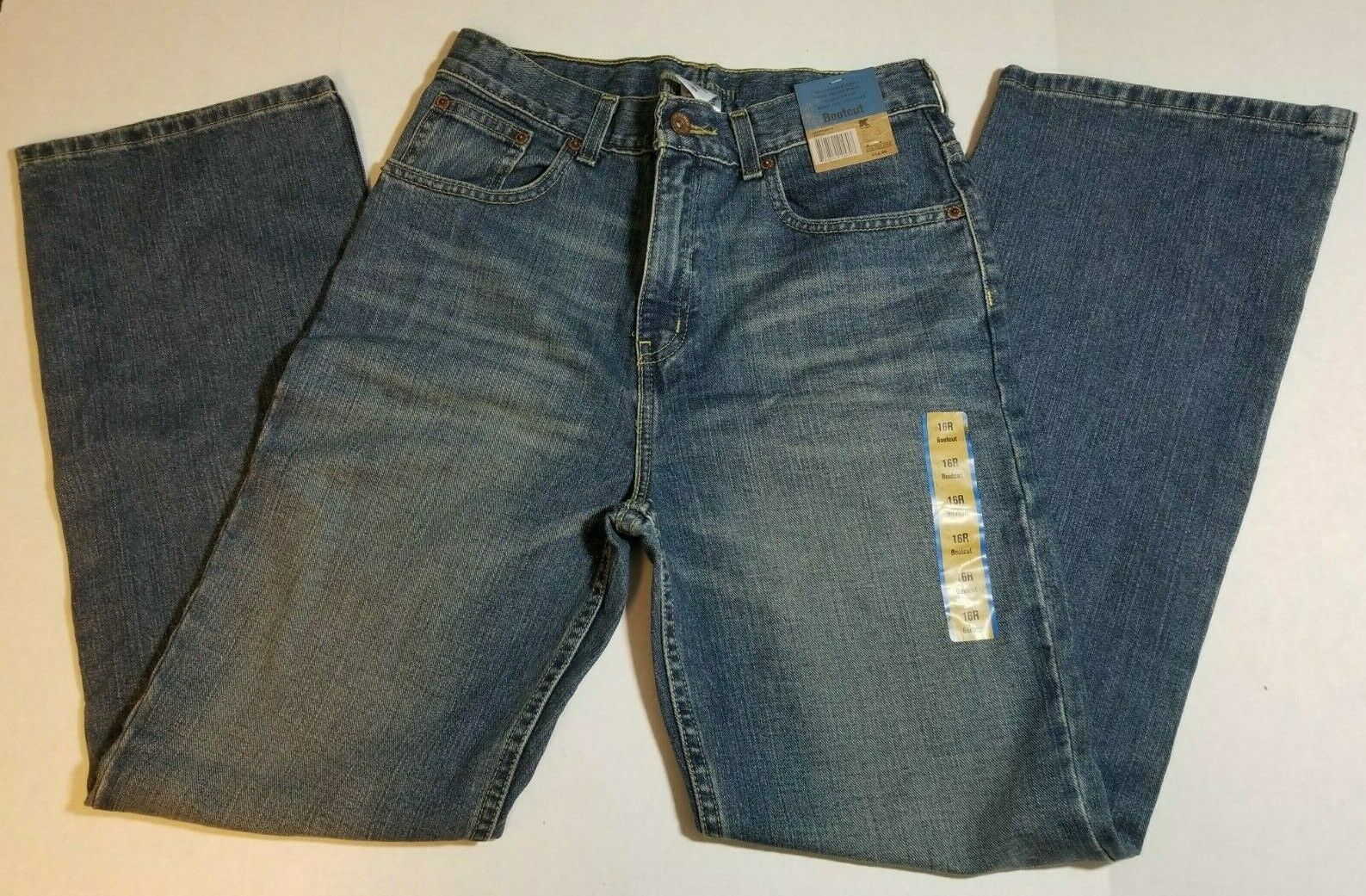 NWT Route 66 Regular Bootcut Boys Youth Jeans Size 16R Medium Wash Pants