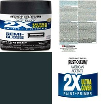 Black, Rust-Oleum American Accents 2X Ultra Cover Semi-Gloss Spray Paint... - $17.99+