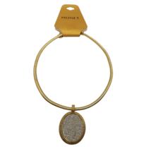 Monet Princess Necklace Silver Glitter Sparkle Pendant Cocoon Chain Gold Tone  - $10.39