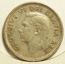 KM#43 1949 Silver Canadian Dime XF #0493 - $5.99