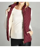 Burgundy Faux Shearling Lined Vest, Sherpa Lined Puffer Vest, Puffer Vest - $44.99