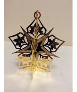 "Danbury Mint - 1990 Gold Christmas Ornament -  ""Star of Bethlehem"" (B10) - $12.95"
