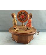 Anri Music Box  Thorens Swiss Wheel of Fortune Hand Carved Wood 28 Note ... - $199.00