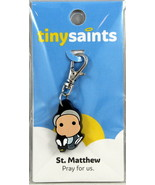 Tiny Saints St. Matthew Charm for Bracelets, Backpacks, Great Gift! - $9.31