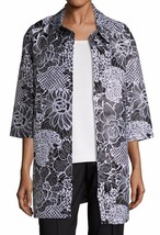 New with Tag - $2,195 St. John Graphic Wildflower Jacquard Opera Coat Size 10 - $376.19