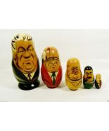 VTG Past Russian Soviet Political Leaders Nesting Doll Matryoshka 5 pc s... - $27.72