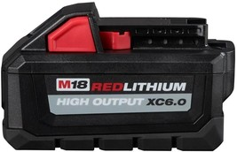 Milwaukee Power Tool Battery Pack 6.0Ah 18-Volt Lithium-Ion Rechargeable - $156.45